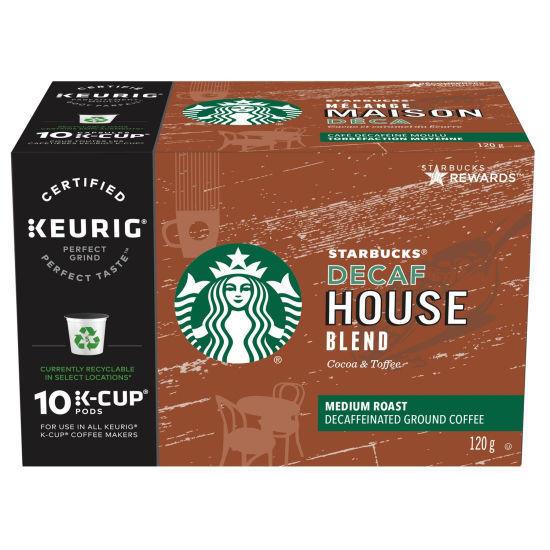 Starbucks House Blend Decaf K-Cup Pods - 10Ct