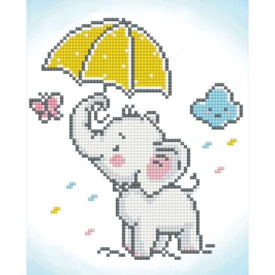 Diamond Art Painting Beginner Kit - Baby Elephant