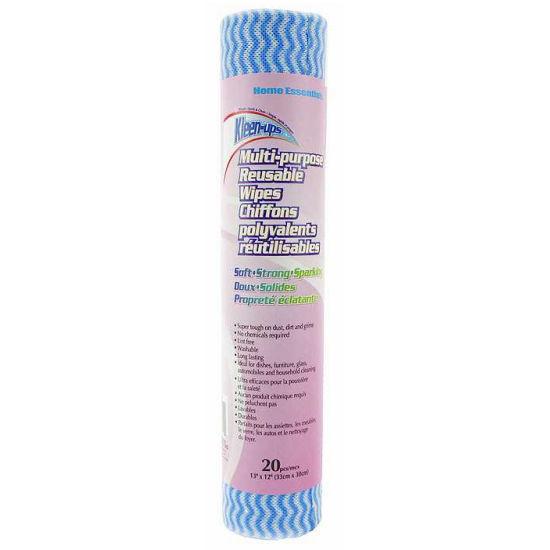 Kleen-Ups Multi-Purpose Reusable Wipes - 20Ct