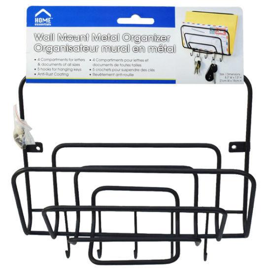 Home Essentials Metal Letter Organizer - Blk