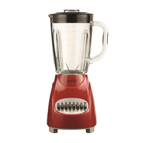 Brentwood 12 Speed Glass Jar Blender - Red