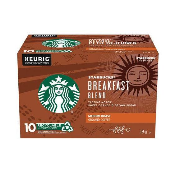 Starbucks Breakfast Blend K-Cup Pods - 10Ct