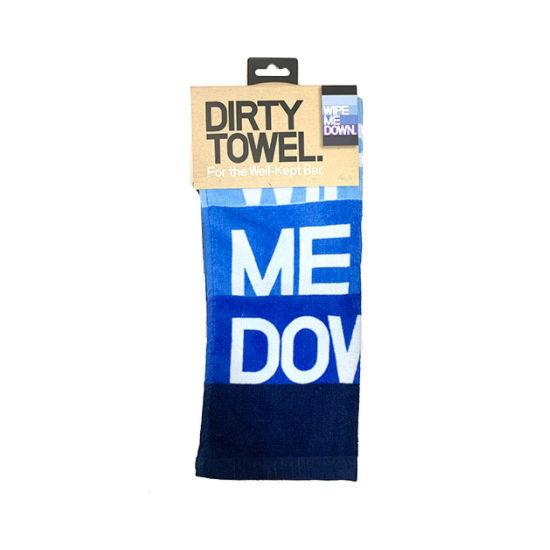 Inside Joke Dish Towel - Wipe Me Down Light Blue