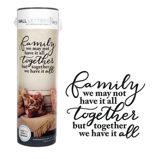 "Family Saying Wall Art -22X18"""