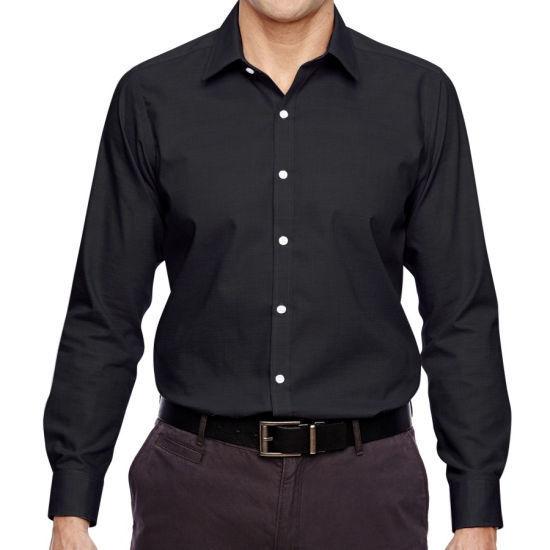 North End Men's Cotton Wrinkle-Free Dress Shirt -Black Large