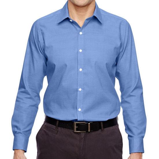 North End Men's Cotton Wrinkle-Free Dress Shirt -Inkblue Xl