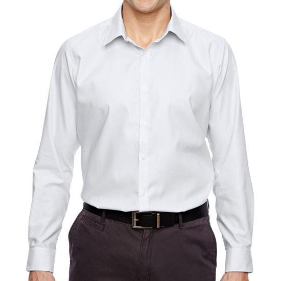 North End Men's Cotton Wrinkle-Free Dress Shirt -Silver Larg