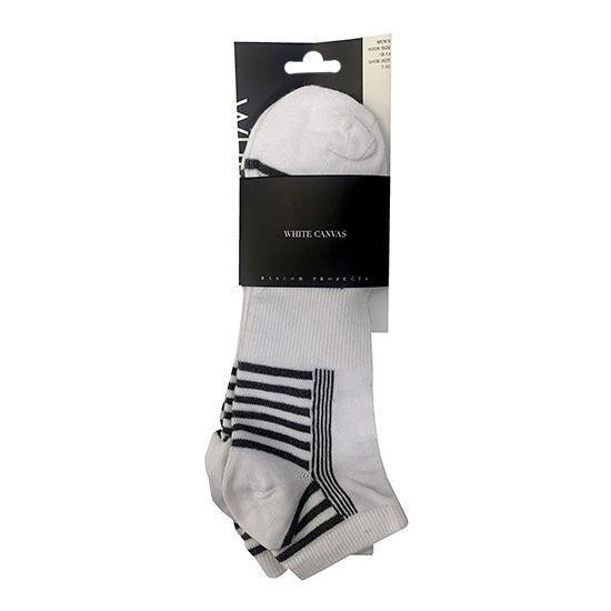 Mens Low Cut Tech Socks Sz 10-13 - 3 Pack White