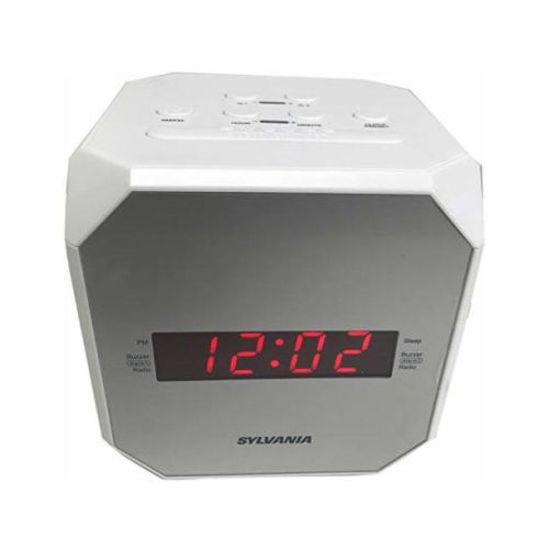 Sylvania Scr1420 Dual Alrm Am/Fm/ Clock Radio -White