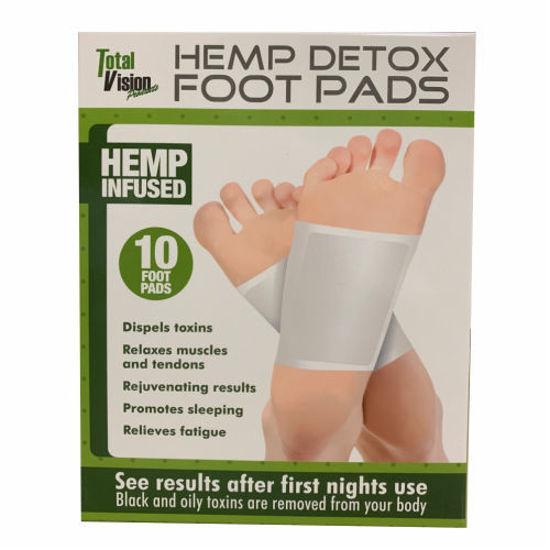 Hemp Detox Foot Pads - 10Pk