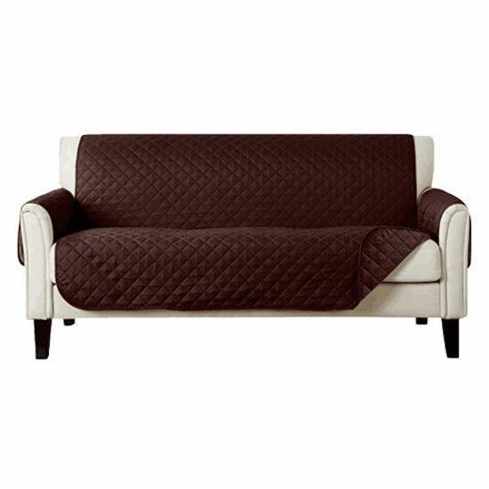 """Gravitti 3 Seat Sofa Cover 73""""X116""""-Espresso Brown"""