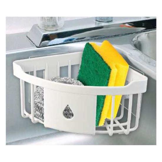 Multi-Purpose Corner Sink Shelf - Peel And Stick