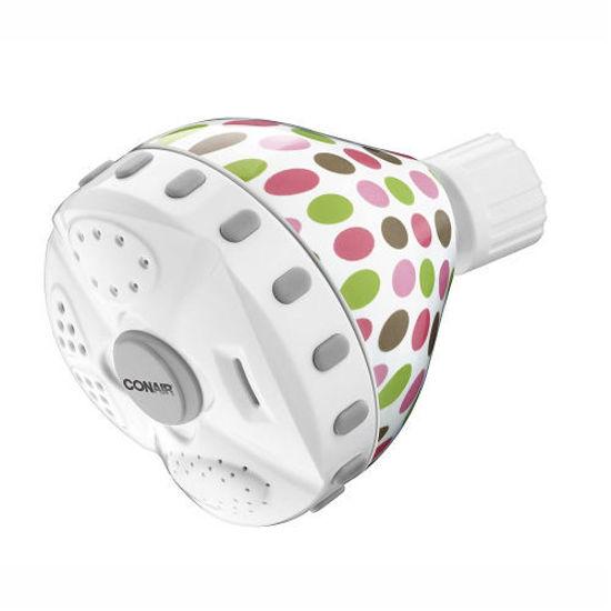 Conair Home Prints Shower Head - Polka Dot