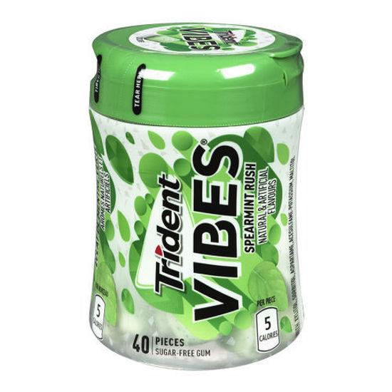 Trident Vibes  Gum Spearmint Rush-40C Bottle