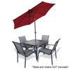 Arctic Sky Patio Umbrella 9' W/ Tilt-Dark Red