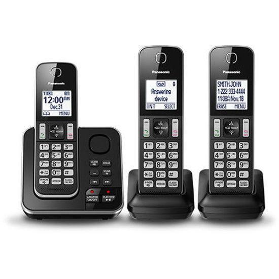Panasonic Tg163k Dect6.0 3Hs Exp.Cls Phn W/T.Cid/Ans/Blk