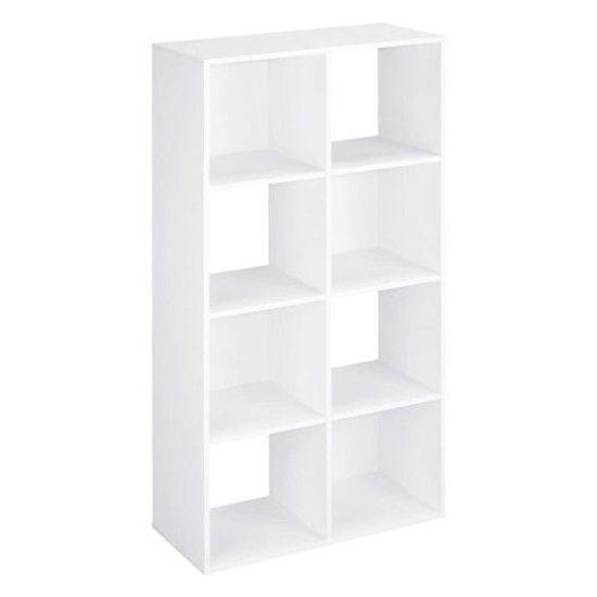 "Gravitti 8 Cube Bookcase (47"" X 24"" X 11"" ) - White"