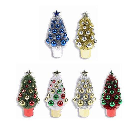 "Tiny Tinsel Christmas Tree - 7.5"""